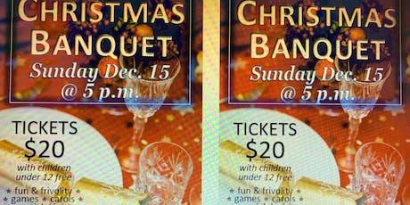 Christmas Banquet - December 15 - tix 250-462-1901 tickets