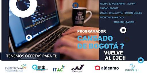 Programador, ¿Cansado de Bogotá? Vuelve al Eje Cafetero /Tech Talk Big Data