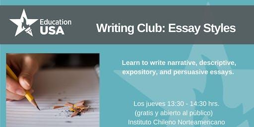 Writing Club Noviembre 2019 - Essay Styles
