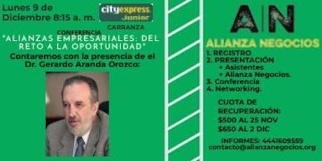 PRESENTACIÓN Y CONFERENCIA ALIANZA NEGOCIOS entradas