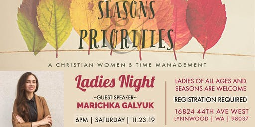 Seasons & Priorities  | SBC Ladies Night
