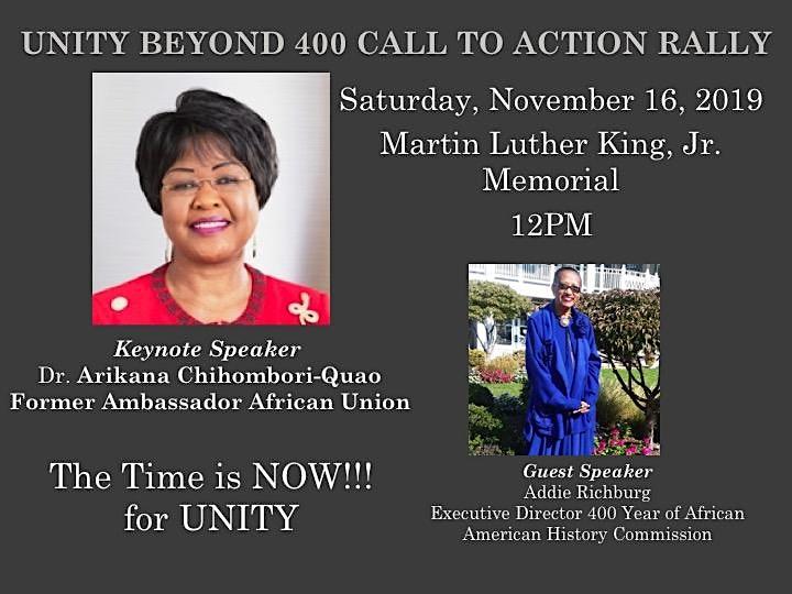 """Unity Beyond 400 """"UB400"""" Call to Action Rally image"""