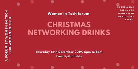 Women in Tech: Christmas Networking Drinks tickets