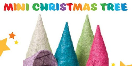 Decorate your very own Mini Coloured Christmas Tree Ornament