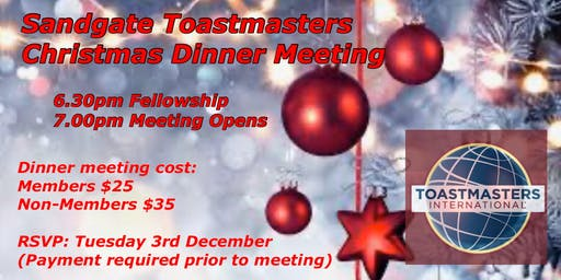 Sandgate Toastmasters Christmas Meeting