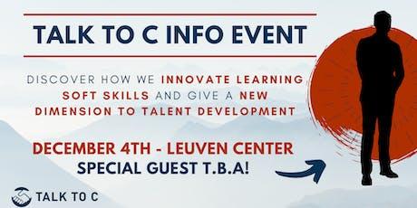 Talk To C info event - Gratis tickets