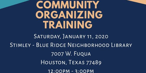 Community Organizing Training - Jan 11th -  Stimely Blue Ridge