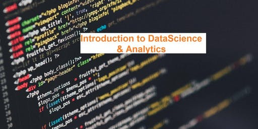 Introduction to DataScience & Analytics - Delaware Tech Meetup