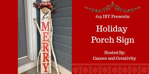 Holiday Porch Sign