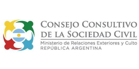 SUMATE al CONSEJO CONSULTIVO de la SOCIEDAD CIVIL de Cancillería Argentina entradas