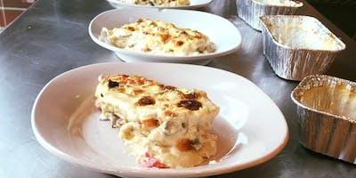 Home-Made Lasagna white sauce