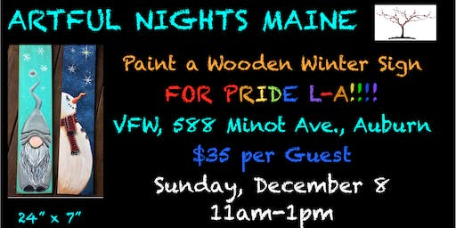 Paint a Wooden Winter Sign for L-A Pride!