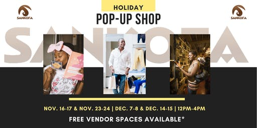 Sankofa Holiday Pop-up