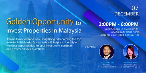 Golden Opportunity to Invest Properties in Malaysia
