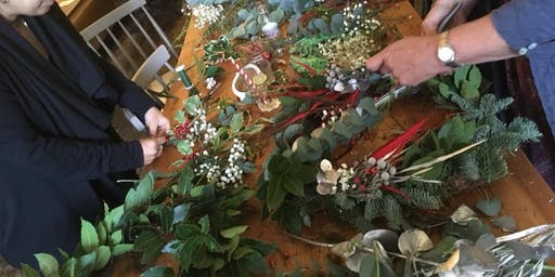 Enviromentally friendly Wreath Workshop. Plastic free Wreaths. Natural NW2