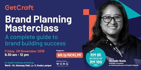 RM 95 - Brand Planning Masterclass tickets