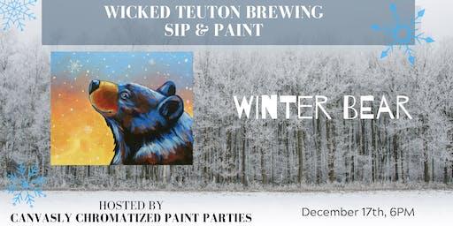 Winter Bear Paint & Sip @ Wicked Teuton