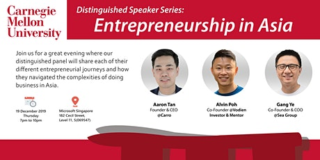 CMU Distinguished Speaker Series: Entrepreneurship in Asia tickets