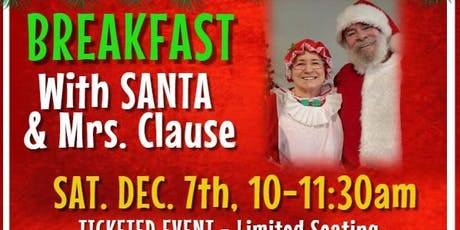 Breakfast with Santa and Mrs. Claus tickets
