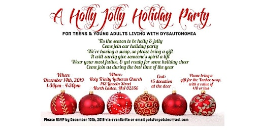 A Holly Jolly Holiday Party for those with Dysautonomia