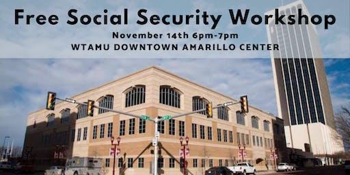 Free Social Security Workshop at Amarillo Center Downtown  WTAMU, Nov 14th
