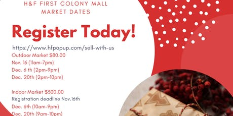 Vendors wanted at First Colony Mall  Holiday Pop-Up market! tickets