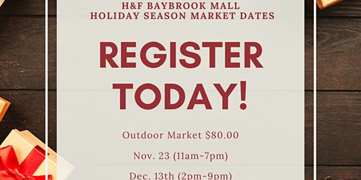Vendors wanted at Baybrook Mall  Holiday Pop-Up market!