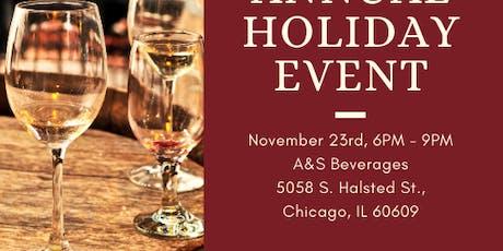 Holiday Wine & Spirits Tasting Soirée Live Entertainment Food pairings tickets