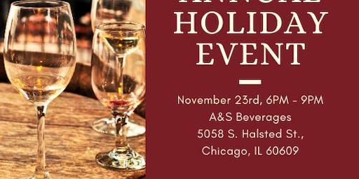 Holiday Wine & Spirits Tasting Soirée Live Entertainment Food pairings