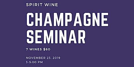 Champagne Seminar  tickets