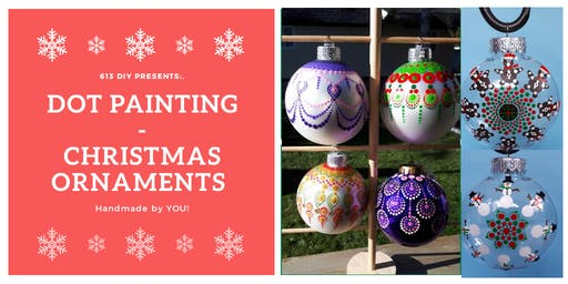 Dot Painting - Christmas Ornaments
