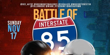 Battle of interstate 85 Panthers vs Falcons game after party tickets