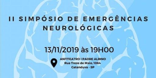 II SIMPÓSIO DE EMERGÊNCIAS NEUROLÓGICAS