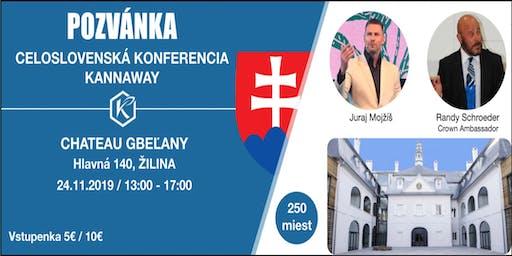 CELOSLOVENSKA KONFERENCIA KANNAWAY