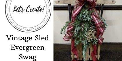 Vintage Sled Decorating- Vintage Sled Purchase