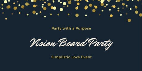 Simplistic Love Vision Board Party tickets
