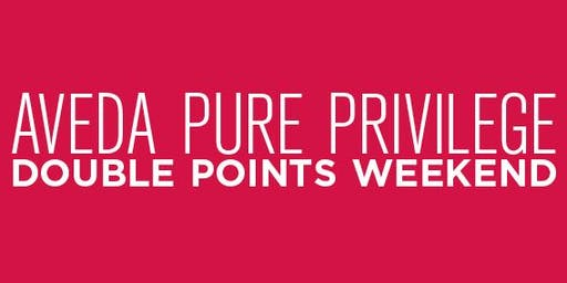 Aveda Beachwood Place Pure Privilege Double Points (12.6.19-12.19.19)