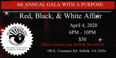 4th Annual Gala With A Purpose: A RED, BLACK & WHITE AFFAIR tickets