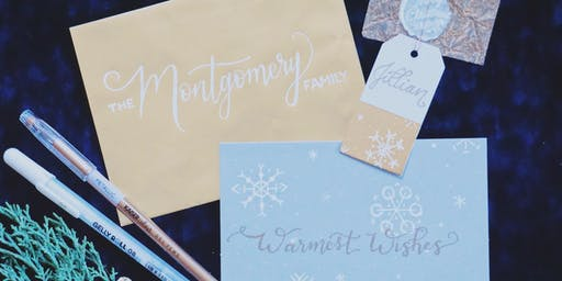 Holiday Hand Lettering with Boneau Embroidery & Ink
