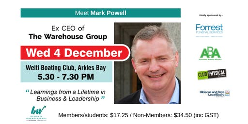 Business Whangaparaoa Networking with Mark Powell