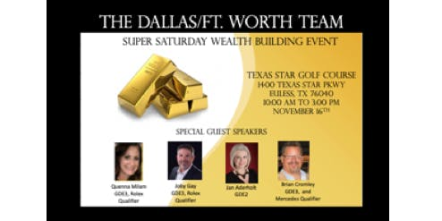 SUPER SATURDAY WEALTH BUILDING EVENT