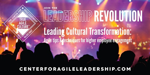 Leading Cultural Transformation, October 15, Nashville