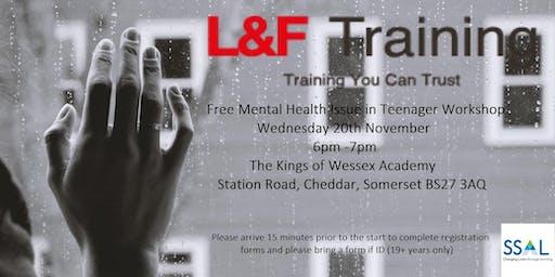 Free Mental Health Issues in Teenagers Workshop