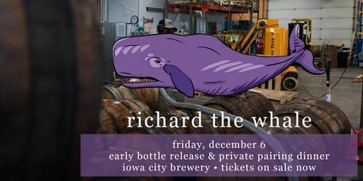 Richard the Whale | Early Bottle Release & Private Pairing Dinner