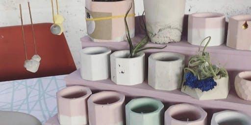 concrete planters workshop