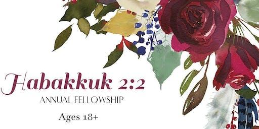 Habakkuk 2:2 Annual Fellowship 2020