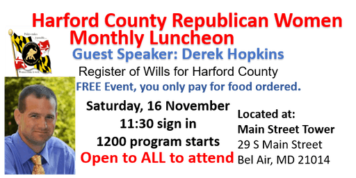 HCRW November Monthly Luncheon