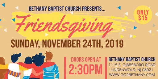 Friendsgiving at Bethany!