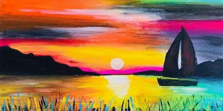 Paint Night in Bondi: Sunset over Lake tickets