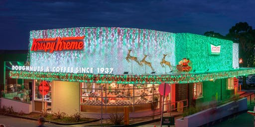 Krispy Kreme Christmas Lights Penrith Opening Night